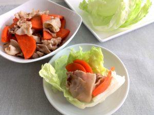 にんじんと豚肉のうま煮